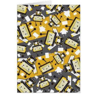 Cartão bonito da abelha de Blockimals dos desenhos
