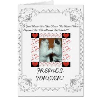 Cartão bonito da amizade
