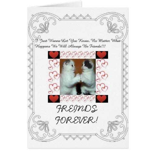 Cartão bonito da amizade!