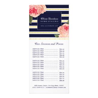 Cartão bonito da cremalheira da tabela de preços 10.16 x 22.86cm panfleto