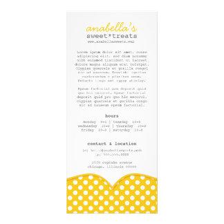 Cartão bonito da cremalheira das bolinhas planfetos informativos coloridos