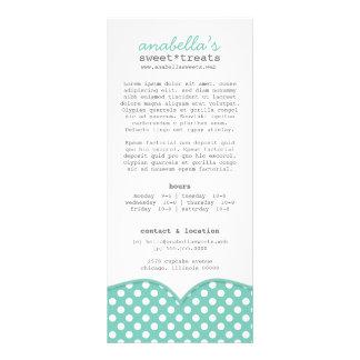 Cartão bonito da cremalheira das bolinhas modelos de panfletos informativos