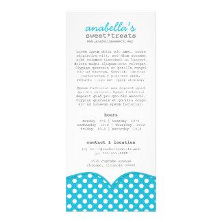 Cartão bonito da cremalheira das bolinhas planfeto informativo colorido
