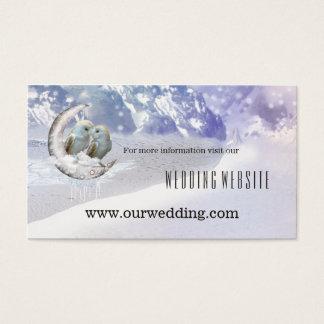 Cartão bonito da inserção do Web site do casamento