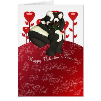 Cartão bonito da jaritataca do feliz dia dos namor