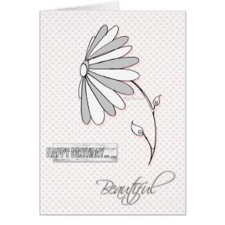 Cartão bonito da margarida do feliz aniversario