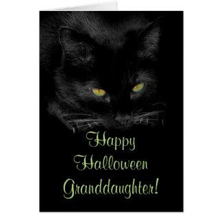 Cartão bonito da neta do Dia das Bruxas do gato