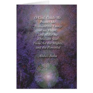 Cartão bonito da oração de Baha'i
