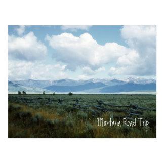 Cartão bonito da paisagem de Montana