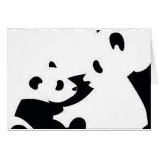 Cartão bonito da panda