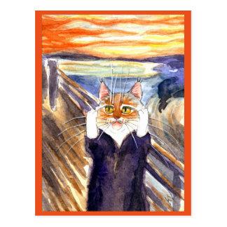 Cartão bonito da paródia do gato do gritar de