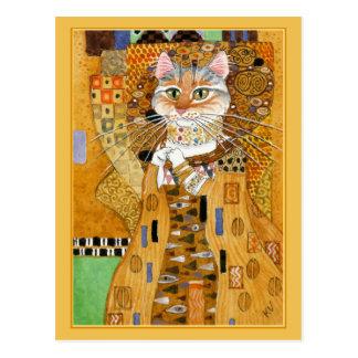 Cartão bonito da paródia do gato do ouro de