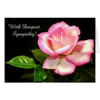 Cartão bonito da simpatia do rosa do rosa