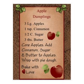 Cartão bonito das bolinhas de massa de Apple