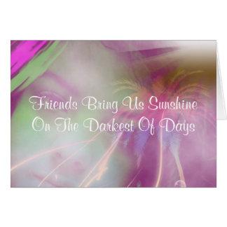 Cartão bonito das citações da amizade