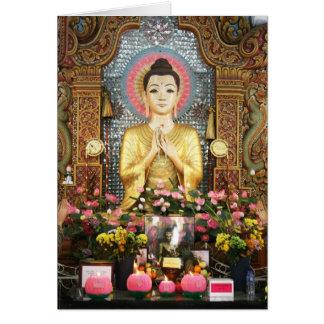 Cartão bonito de Buddha