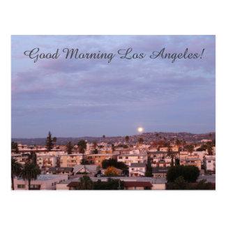 Cartão bonito de Los Angeles do bom dia!