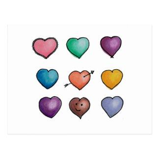 Cartão bonito de Lovehearts