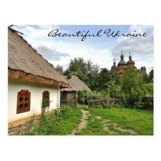 Cartão bonito de Ucrânia/vila ucraniana