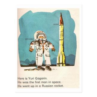 Cartão bonito de Yuri Gagarin Cartão Postal
