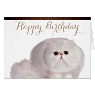 Cartão bonito do aniversário do gato