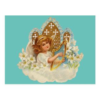 Cartão bonito do anjo cartão postal