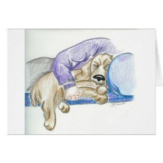 Cartão bonito do cão de cocker spaniel dos