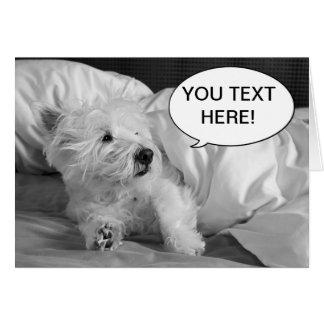 Cartão bonito do cão de Westie