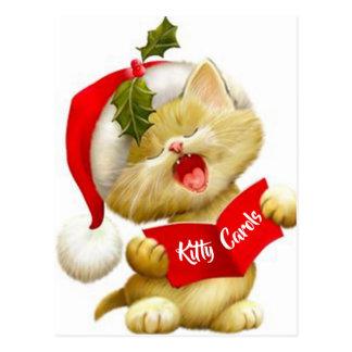 Cartão bonito do Caroler do Natal do canto do