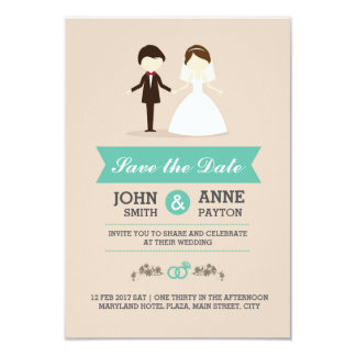 Cartão bonito do convite do casal do casamento