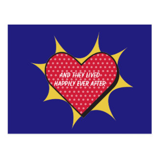Cartão bonito do coração da banda desenhada cartão postal