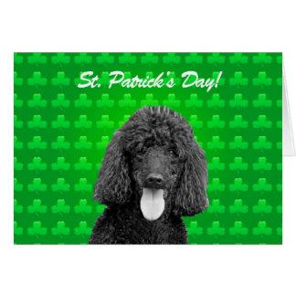 Cartão bonito do Dia de São Patrício do cão de