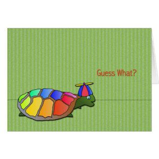 Cartão bonito do dia do enganado da tartaruga