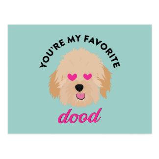 Cartão bonito do dia dos namorados de Goldendoodle