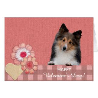 Cartão bonito do dia dos namorados do cão do