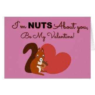 Cartão bonito do dia dos namorados do esquilo |