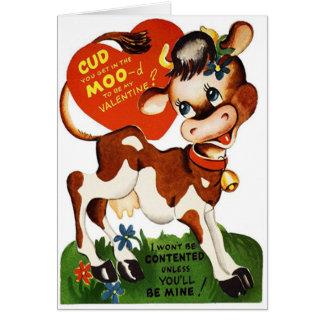 Cartão bonito do dia dos namorados do MOO