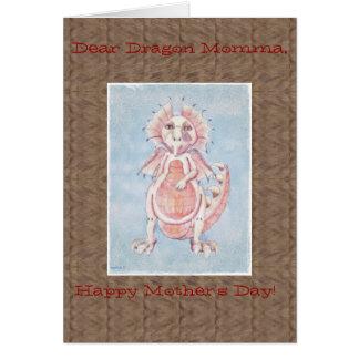 Cartão bonito do dragão do dia das mães
