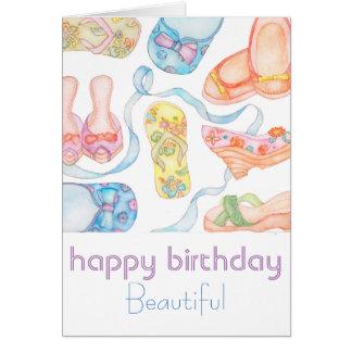 Cartão bonito do feliz aniversario