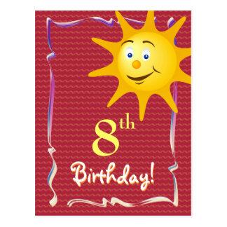 Cartão bonito do feliz aniversario com sol bonito
