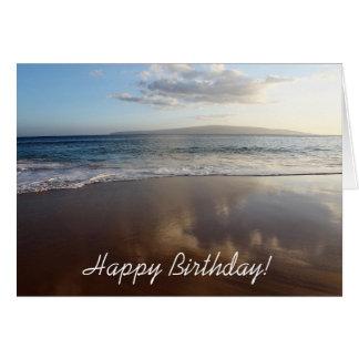 Cartão bonito do feliz aniversario da praia