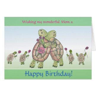 Cartão bonito do feliz aniversario para mães