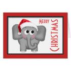 """Cartão bonito do """"Feliz Natal"""" do elefante do"""