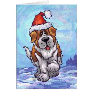 Cartão bonito do feriado do cão de St Bernard