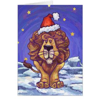 Cartão bonito do feriado do leão