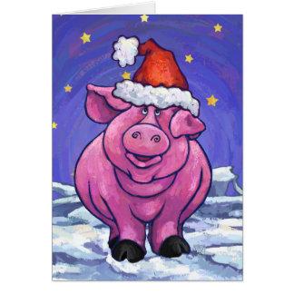 Cartão bonito do feriado do porco