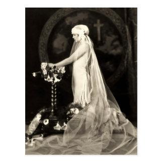 Cartão bonito do francês da noiva