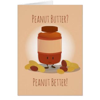 Cartão bonito do frasco   da manteiga de amendoim