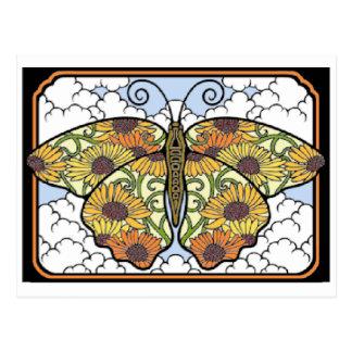 Cartão bonito do mosaico da borboleta cartão postal