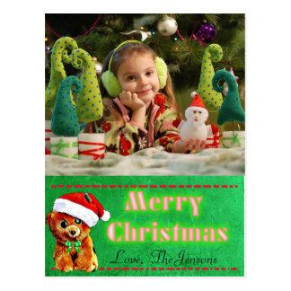 Cartão bonito do Natal do urso de ursinho